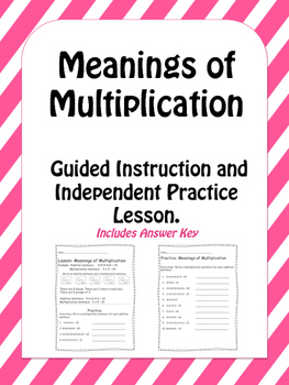 Meanings of Multiplication Lesson