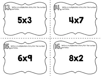Meanings of Multiplication Scoot {24 Task Cards}