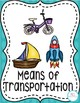 Means of Transportation Flashcards