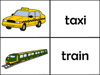 Means of transportation Memory game