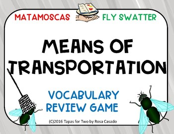 Means of transportation vocabulary game