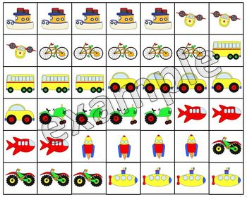 Means of transportations logical sequences