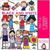 Meant to Be clip art = BLACK AND WHITE - by Melonheadz Clipart
