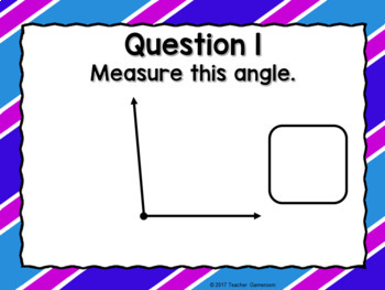 Measuring Angles Powerpoint Game