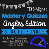 *STAAR READY* Measure Angles TEKS Mastery Quiz BUNDLE! {TE