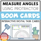 Measure Angles Using Protractor Boom Cards Distance Learning
