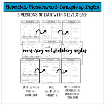 Measuring Angles with a Protractor 4.MD.6 {Differentiated Assessments}