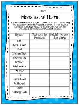 Measure Around the Room (2.MD.1)