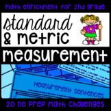 Measurement Enrichment Printables - 20 No-Prep Challenge Math Activities