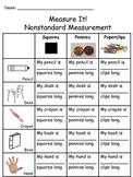 Measure It! Nonstandard Measurements