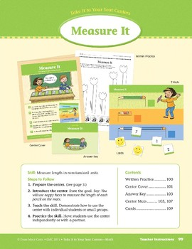 Measure It (Take It to Your Seat Centers Common Core Math)