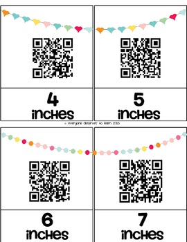Measure with QR Codes Centimeters, Inches, Non-Standard