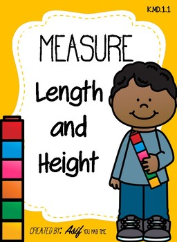 Measure Length and Height with cubes - Non standard measurement K.MD.1.1