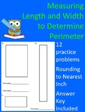 Measure Length and Width to Nearest Inch to Determine Perimeter