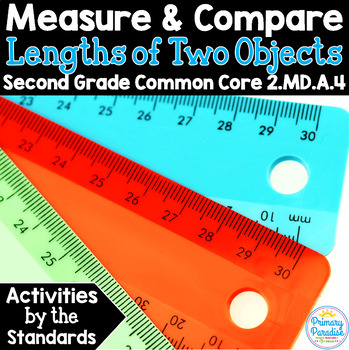 Measure Lengths & Find the Difference  2.MD.A.4 Common Cor