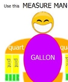 Measure Man Cup, Pint, Quart, Gallon