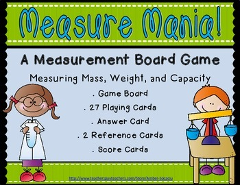 Measure Mania! - A Mass and Capacity Board Game