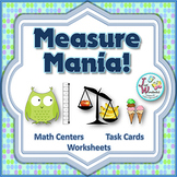 Measurement Task Cards non-standard measurement math center activities