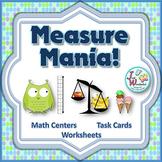 Measurement Task Cards non-standard measurement math cente