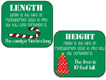 Measure Maniac- Kindergarten & First Grade (Christmas Edition)