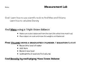 Measure Mass Lab