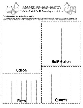 Measure-Me-Math Lapbook - From Cups to Gallons Inserts