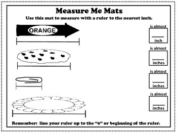 Measure Me Mats: Measuring Fun! NO-PREP Printables