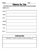Measure Me This! Centimeters Worksheet