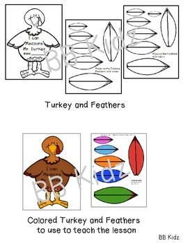Measure Mr. Turkey - A fun measurement activity for Thanksgiving / Kindergarten