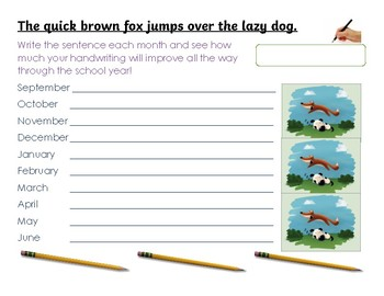 Measure Progress With Handwriting Throughout The School Year!