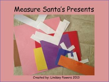 Measure Santa's Presents: Christmas Kindergarten Math
