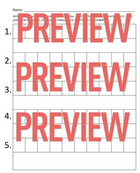 Measure Spelling Worksheet