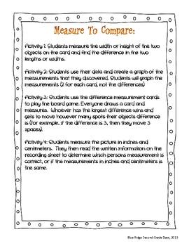 Measure To Compare: A Common Core Measurement Activity