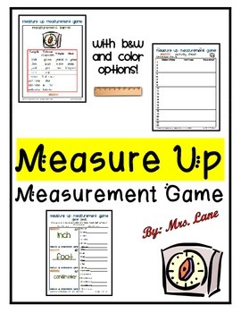 Measure Up Measurement Game