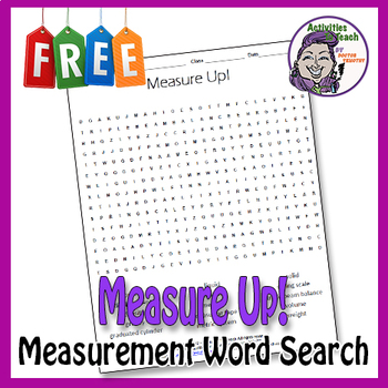 Measure Up - Science Terms Word Search Worksheet