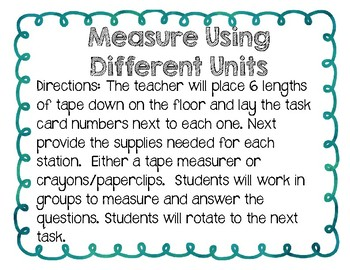 Measure Using Different Units