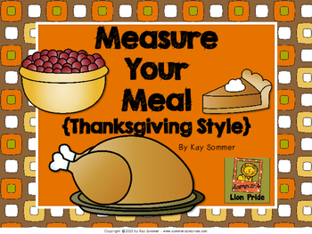 Measure Your Meal {Thanksgiving Style}