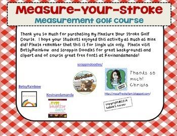 Measure Your Stroke Measurement Golf Course