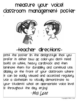 Measure Your Voice! Classroom Management Poster