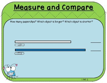 Measure and Compare-Teacher Slides (First Grade, 1.MD.2)