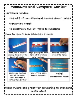 Measure and Compare math worksheets and lesson