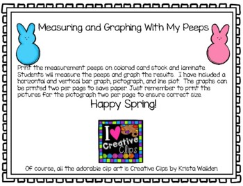 Measure and Graph with My Peeps