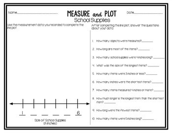 Measure and Plot - A Measurement and Line Plot Activity