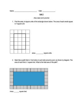 Measure area by counting unit squares packet (sq. cm, sq. ft, etc)