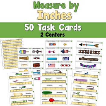 Measure by Inches Task Cards
