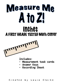 Measure me A to Z Inches: READY TO GO center activity