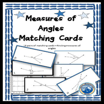 Measure of Angles Matching Card Set