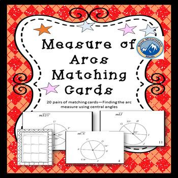 Measure of Arcs Matching Card Set