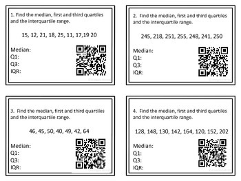 Measure of Spread Task Cards