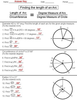 Measure of an Arc